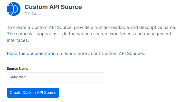 Custom API Source