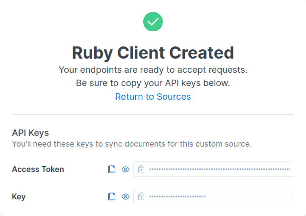 Ruby Client Created
